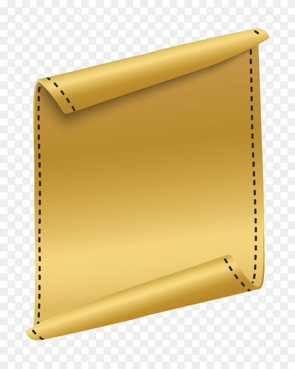 Vertical curved banner on transparent background PNG