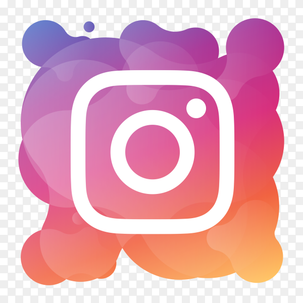 Watercolor instagram on transparent background PNG