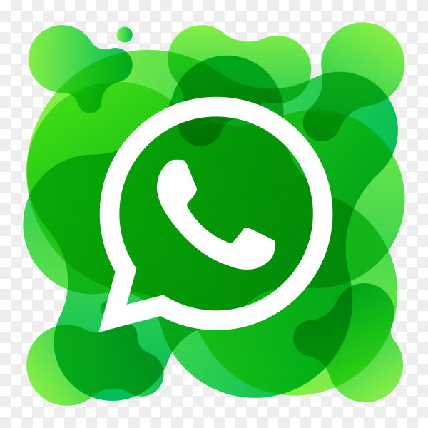 Watercolor whatsapp icon on transparent background PNG
