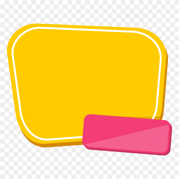 Yellow banner design on transparent background PNG