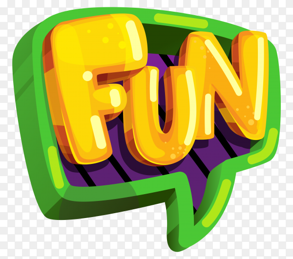 Yellow fun lettering design on transparent background PNG