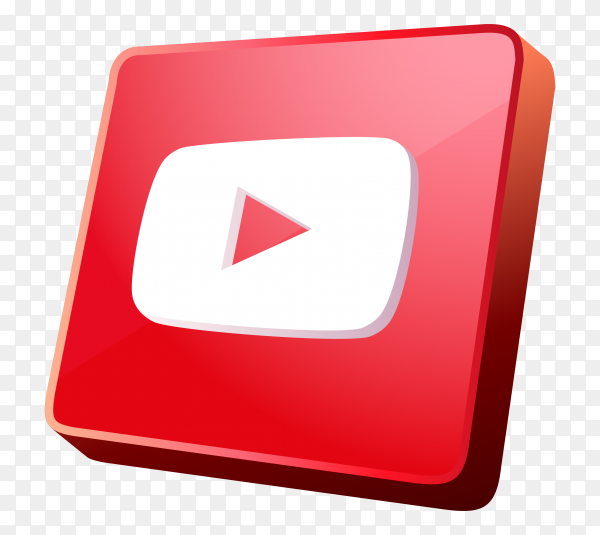 Youtube icon design on transparent background PNG