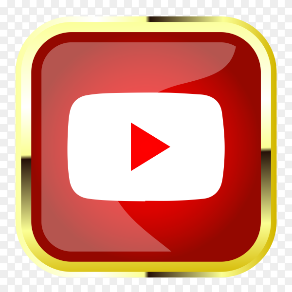 Youtube logo design clipart PNG