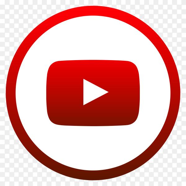 Youtube logo icon premium vector PNG