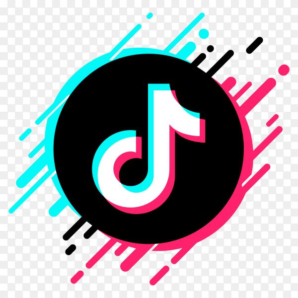 colorful tiktok logo on transparent background PNG