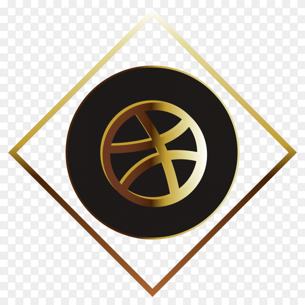 Golden Dribble free icon on transparent background PNG