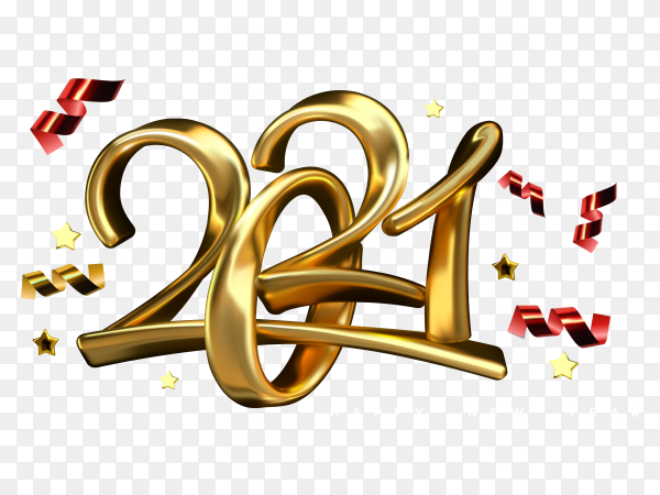 Abstract Happy New Year 2021 Design On Transparent Background Png Similar Png