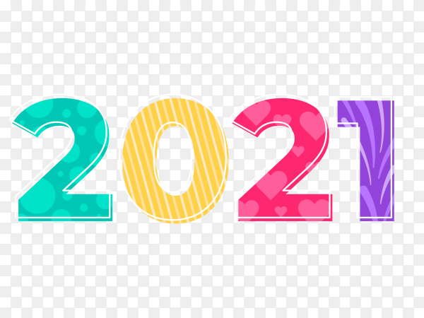 Abstract Happy New Year 2021 On Transparen Background Png Similar Png