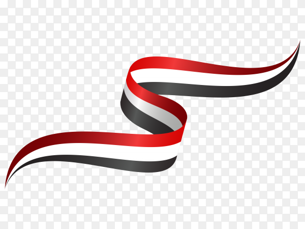 Abstract wavy flag iraqi with ribbon style premium vector PNG