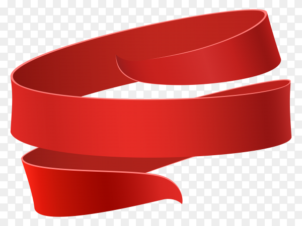 Big sale banner red ribbon premium vector PNG
