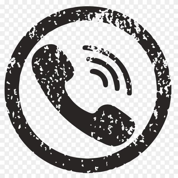 Black viber logo on transparent background PNG
