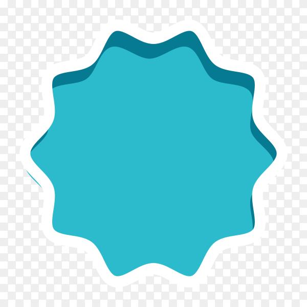 Blue Banner sale Design illustration on transparent background PNG