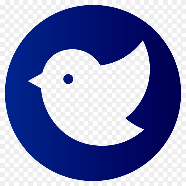 Blue Twitter icon on transparent background PNG