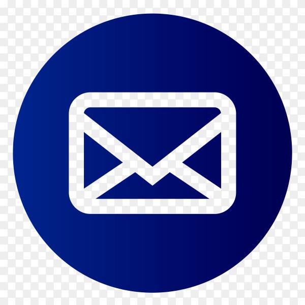 Blue massage icon on transparent background PNG