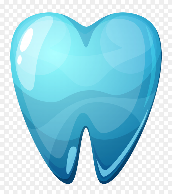 Blue tooth Illustration on transparent background PNG