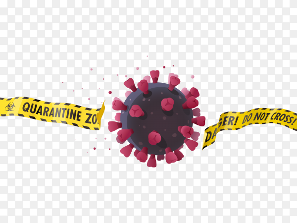 Coronavirus banner Illustration on transparent background PNG