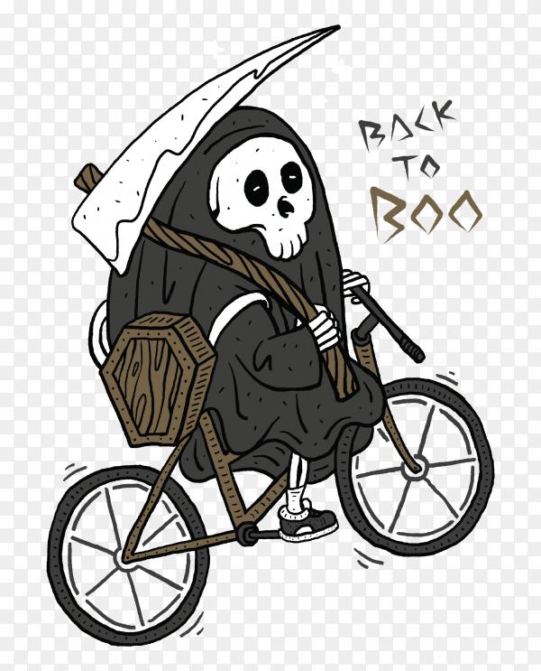 Death horror graphic illustration premium vector PNG