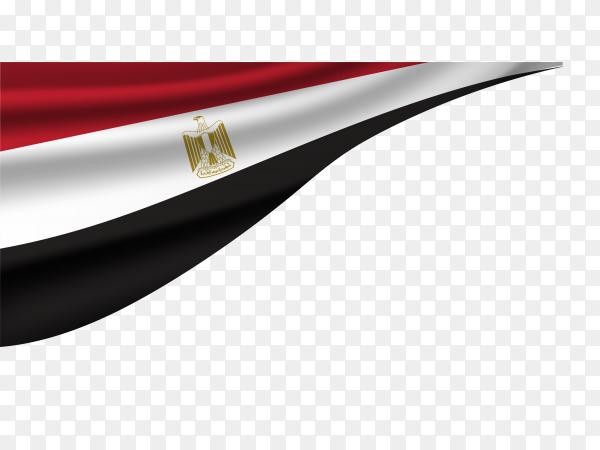 Egypt national flag on transparent PNG