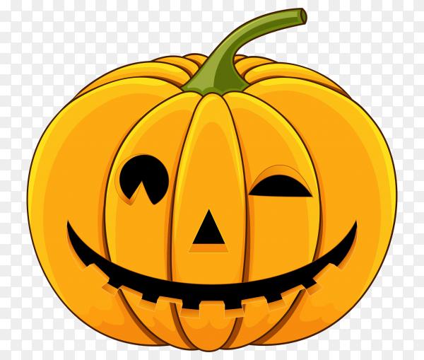 Flat design halloween pumpkin on transparent PNG