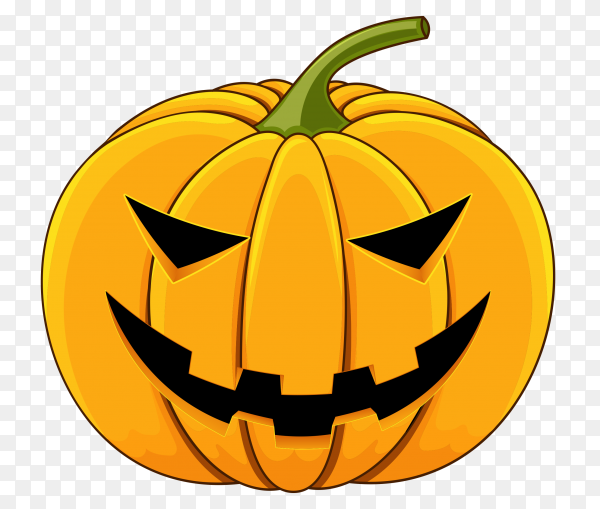Flat design halloween pumpkin on transparent background PNG