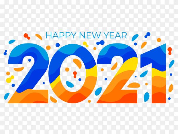 Flat design new year 2021 premium vector PNG