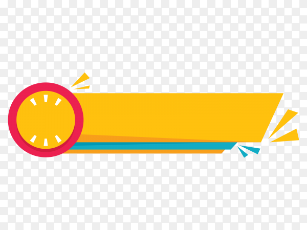 Geometric yellow lower third banner template design on transparent background PNG