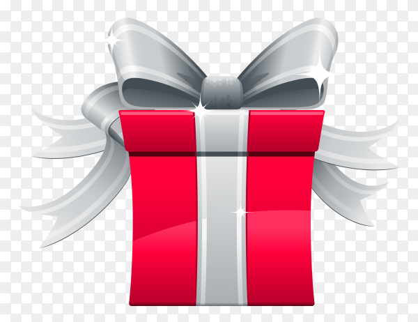 Gift box illustration on transparent background PNG