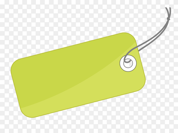 Green empty label design on transparent background PNG