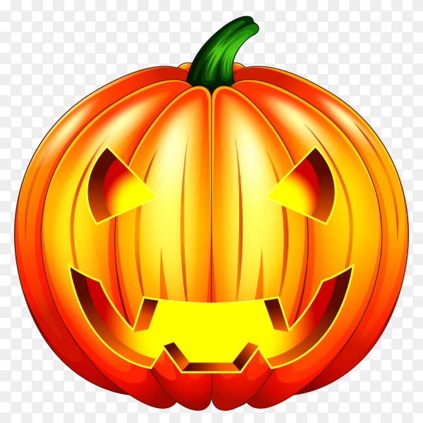 Halloween pumpkin character on transparent PNG