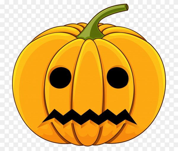 Halloween pumpkin isolated on transparent PNG