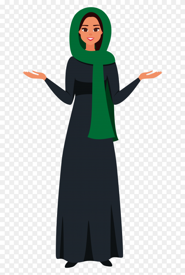 Happy saudi woman celebrate the independence day of the kingdom of saudi arabia on transparent background PNG