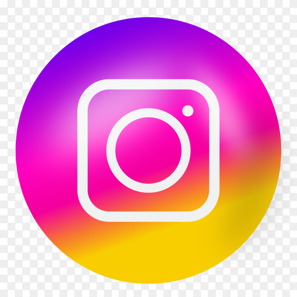 Instagram icon on transparent background PNG