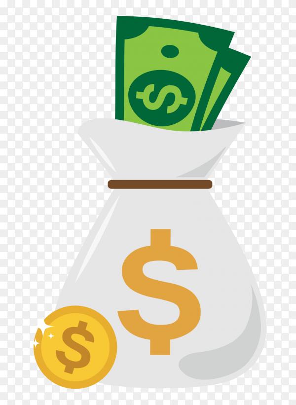 Money bag design premium vector PNG