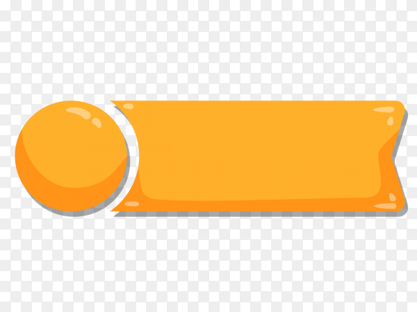 Oranger Ribbon banner on transparent background PNG