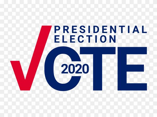 Presidential election vote template design illustration on transparent background PNG