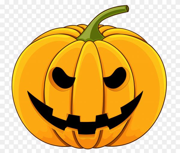 Realistic design halloween happy pumpkin on transparent background PNG