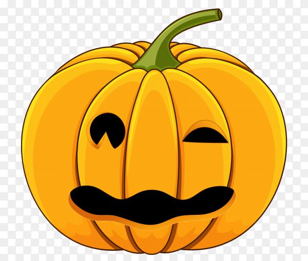 Realistic design halloween pumpkin premium vector PNG