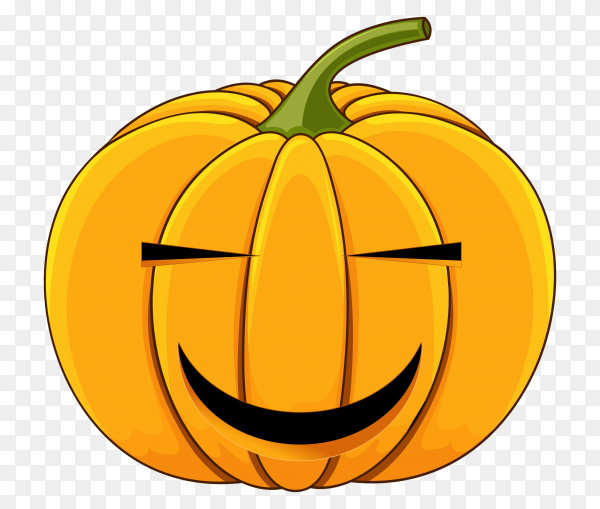 Realistic halloween happy pumpkin on transparent background PNG