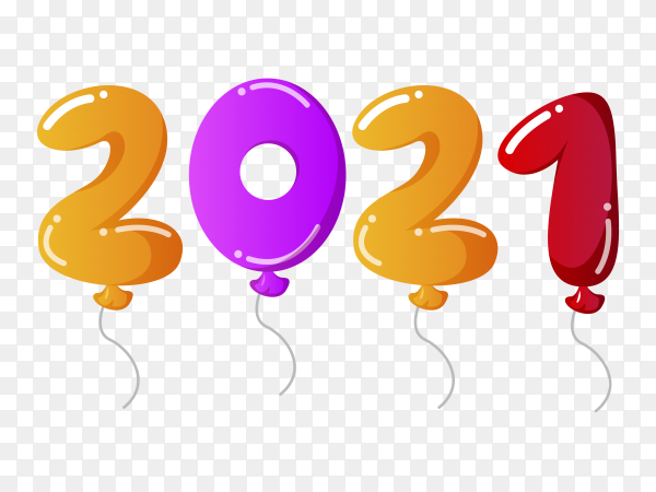 Realistic Happy New Year 2021 On Transparent Background Png Similar Png