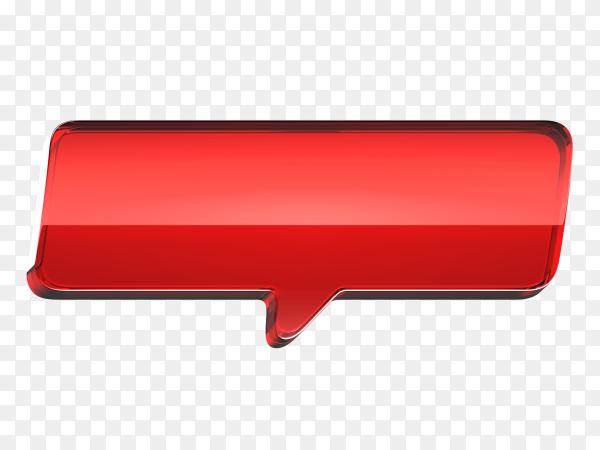 Red banner illustration on transparent backgroun PNG