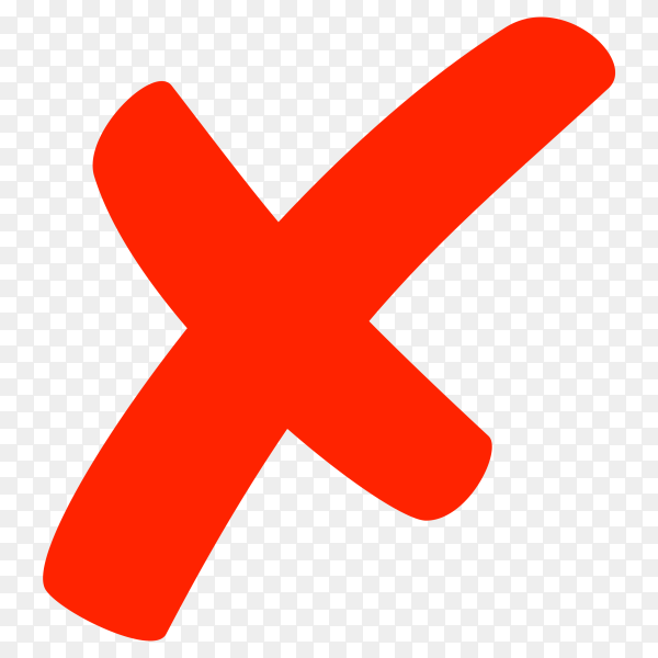 Red incorrect icon design on transparent background PNG