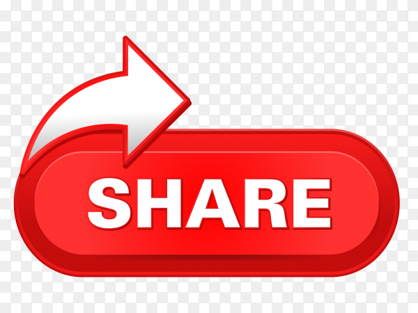 Share icon with red color on transparent background PNG