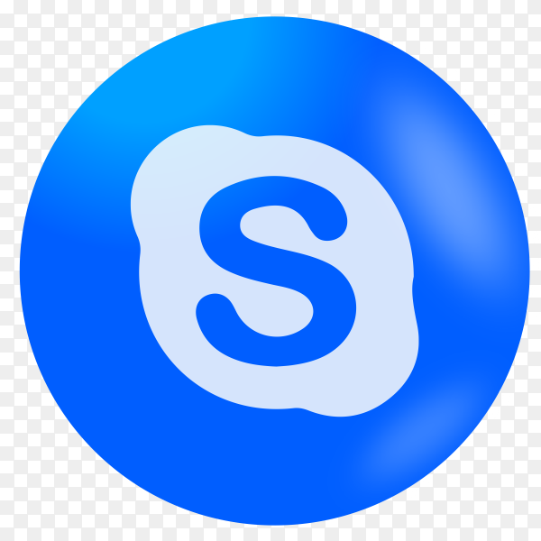 Skype icon design on transparent PNG