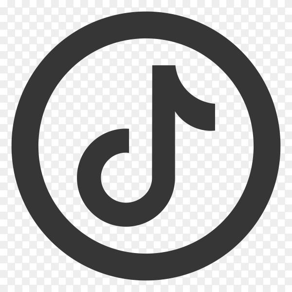 Tiktok flat icon on transparent background PNG