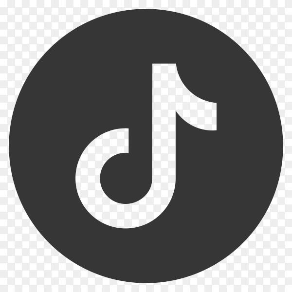 Tiktok icon design on transparent background PNG