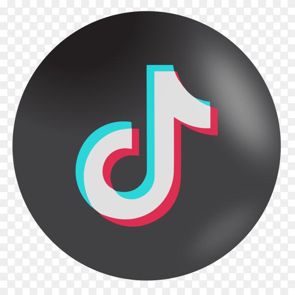 Tiktok icon on transparent background PNG