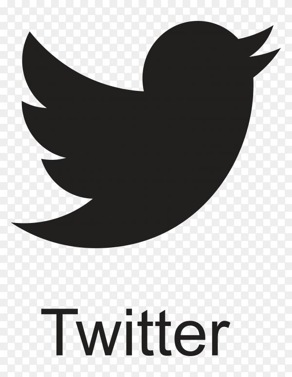 Twitter icon in flat design premium vector PNG