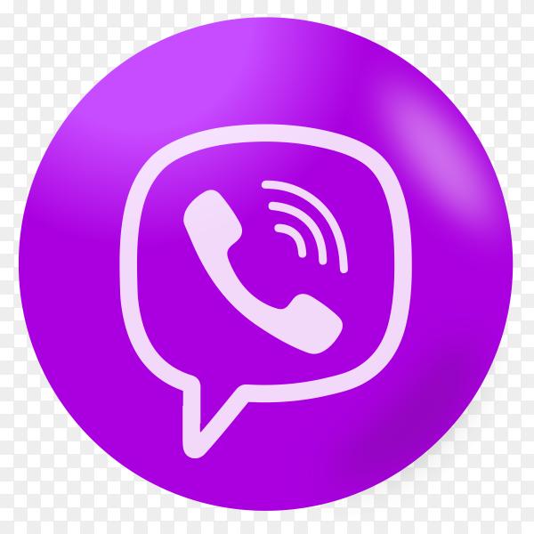 Viber logo on transparent background PNG