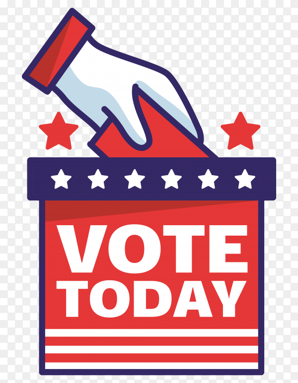 Vote election day on transparent background PNG