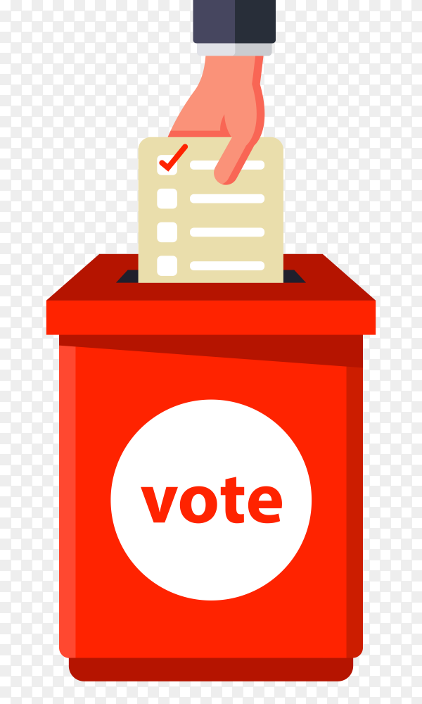 Vote in the american elections on transparent background PNG